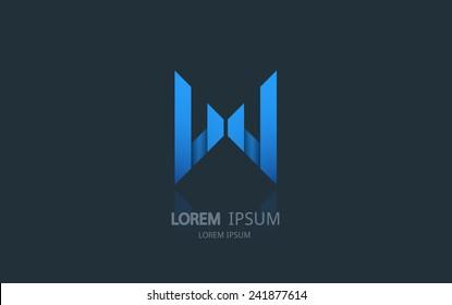 Letter W logo. Alphabet logotype vector design.