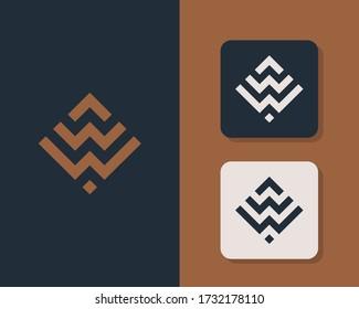 Letter W W logo design. creative minimal monochrome monogram symbol. Universal elegant vector emblem. Premium business logotype. Graphic alphabet symbol for corporate identity
