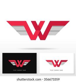Letter W logo design. Vector sign. Business card templates.