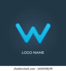 "Letter ""W"" logo isolated. Alphabet vector"