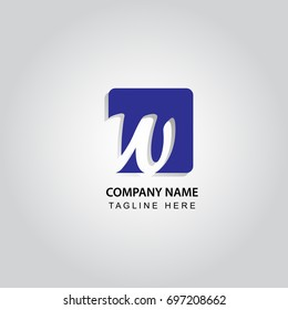 letter W logo in rounded square vector