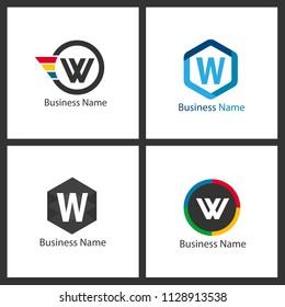 Letter W Logo Set Design