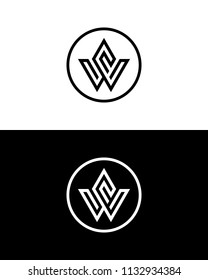 Letter W Logo Template