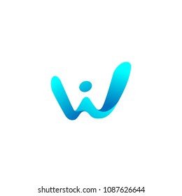 letter w logo template vector download