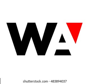 letter A and W logo vector