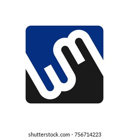 letter w and m vector logo