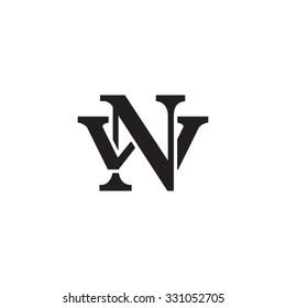 letter W and N monogram logo
