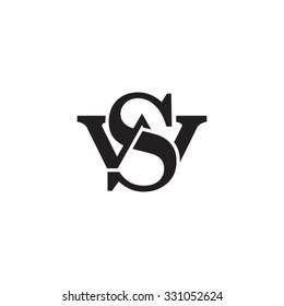 letter W and S monogram logo
