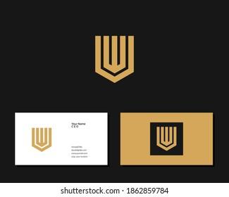 Letter W V logo design. creative minimal monochrome monogram symbol. Universal elegant vector emblem. Premium business logotype. Graphic alphabet symbol for corporate identity