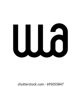 letter a and w vector logo