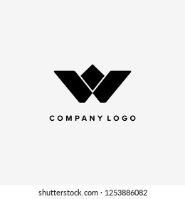 Letter W vector logo template. abstract style