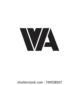 letter wa linked logo vector