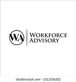 letter WA logo inspiration