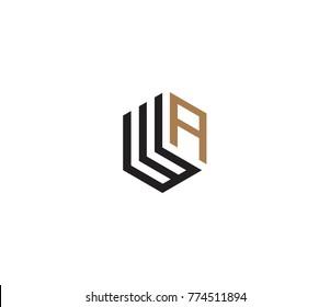 Letter WA logo template