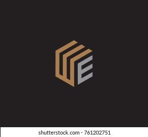 Letter WE logo template