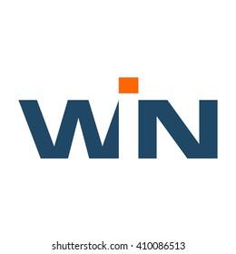 letter WIN logotype. logo vector.