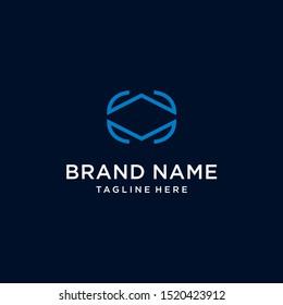 Letter WM MW logo design icon vector