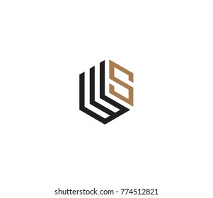 Letter WS logo template