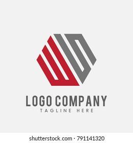 letter WS logo vector