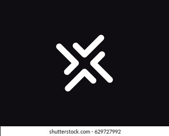 Letter X arrow modern monogram symbol concept. Abstract logo negative space style. Vector illustration. Graphic Alphabet Symbol for Corporate Business Identity