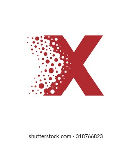 Letter X Bubbles Vector