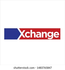 Letter X change. Vector Icon and Logo.