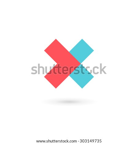 letter x cross logo icon design stock vector royalty free