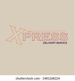Letter X icon for logistic and delivery service company. Vector symbol in letter X for Extreme corporate identity design of courier post office or parcel delivering corporation.