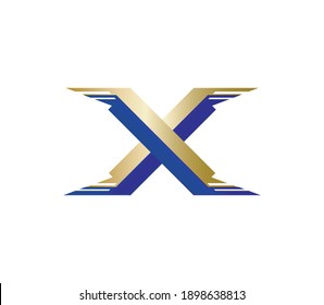 Letter x logo design with wings concept