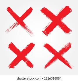 Letter X logo.Grunge cross sign.