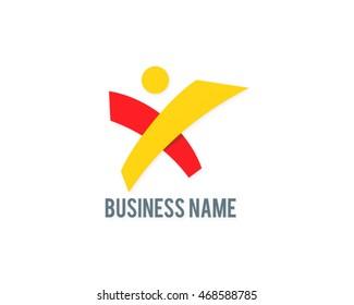 letter x man logo