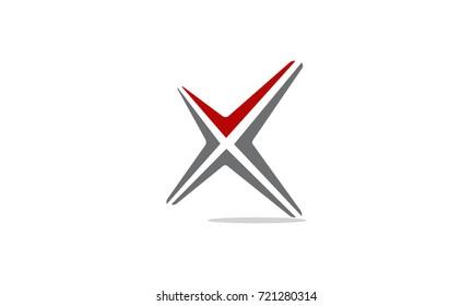Letter X Modern Logo