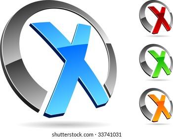 "Letter ""X"" symbol. Vector illustration."
