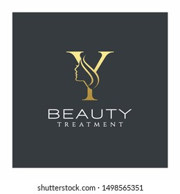 Letter Y Beauty Logo Vector Icon
