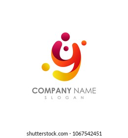 Letter Y With Bubble, Initial Letter Logo For Your Company Name, Alphabet Logo Template Ready For Use, Modern Initial Logo