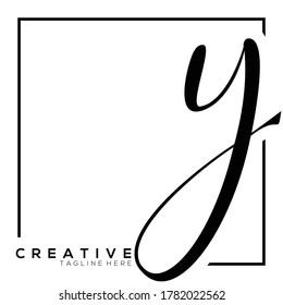 Letter Y Dynamic Monogram Typography Logo Template