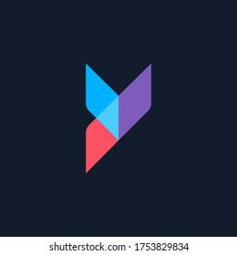 letter y logo design, modern letter y, vector logo