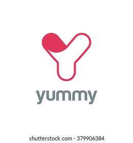 Letter Y Logo design vector template.  Font Logotype