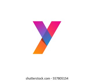 Letter Y Modern Gradient Overlay Logo Design Element