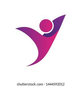 Letter Y People Logo Design