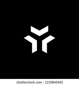 letter Y YY minimalist art monogram arrow shape logo 21124c04806d