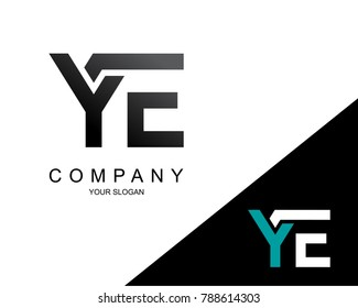 Letter YE Logo Icon Design Template Element