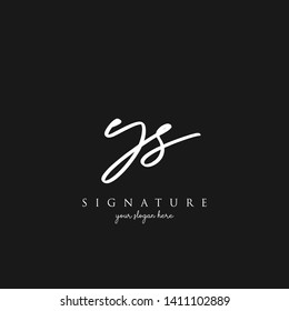 Letter YS Signature Logo Template - Vector