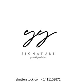 Letter YY Signature Logo Template - Vector