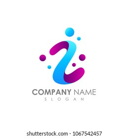 Letter Z With Bubble, Initial Letter Logo For Your Company Name, Alphabet Logo Template Ready For Use, Modern Initial Logo
