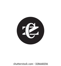 letter Z and C monogram circle logo