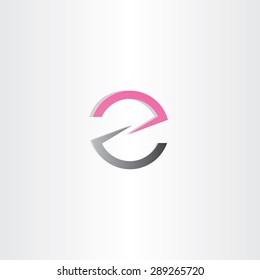 letter z or e logotype vector design