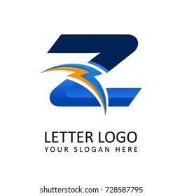 Letter z ELECTRICAL Alphabet Logo