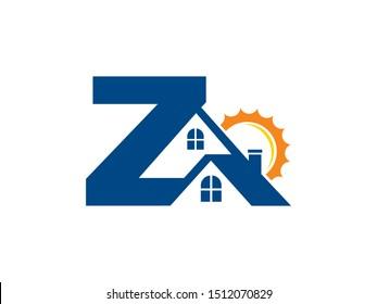 Letter Z house logo or symbol template design