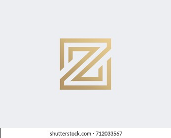 Letter Z logo design concept. Linear creative monochrome monogram symbol. Universal elegant vector icon. Premium business finance logotype. Luxury Fashion sign design template